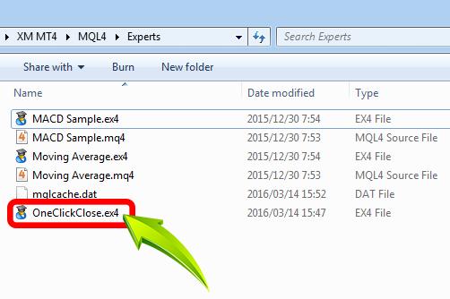 folder MT4 Experts