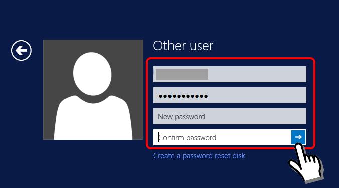 Màn hình thay đổi mật khẩu vps BeeksFX