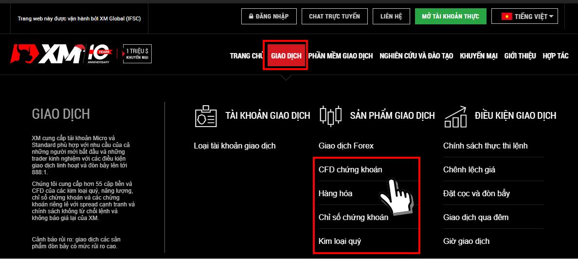 Trang web chính thức XM