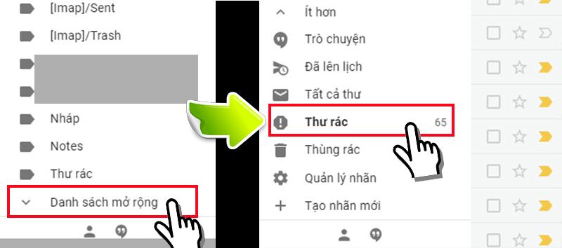 Thư mục spam của Gmail