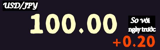 Tỷ giá hối đoái 100 JPY