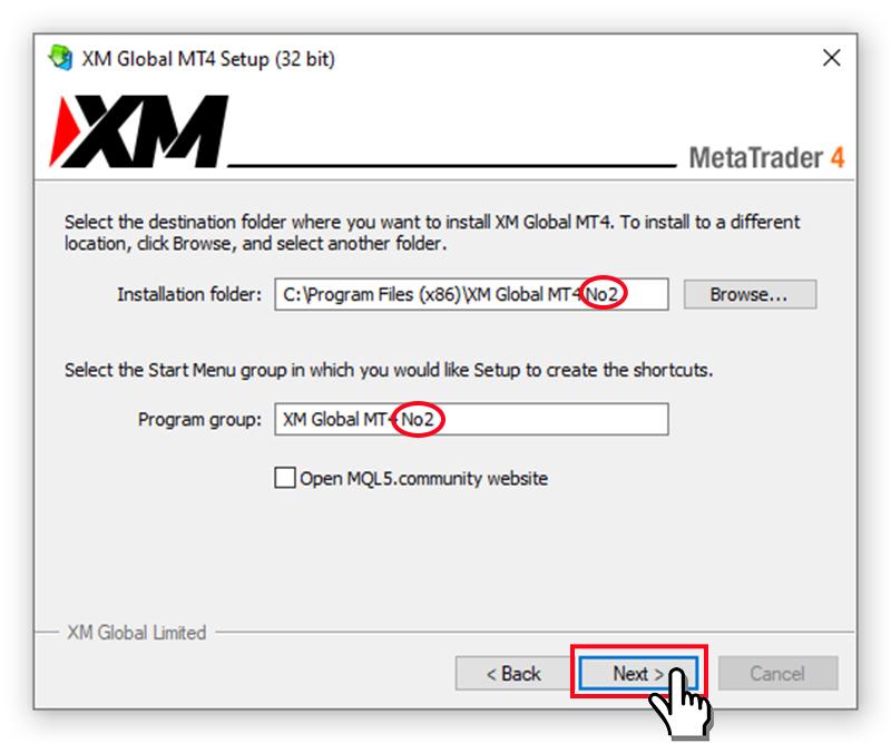 cài đặt thay đổi thư mục cài đặt MT4