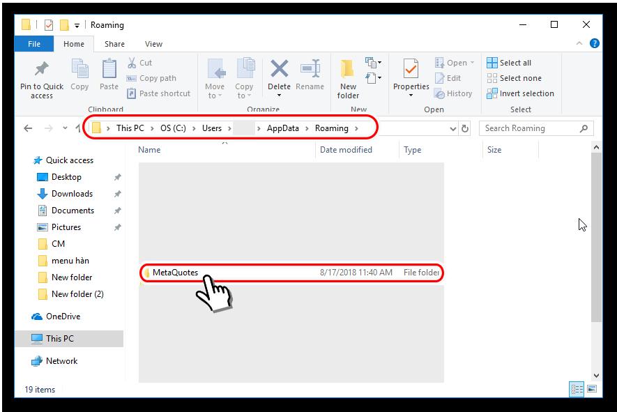 Folder MetaQuotes